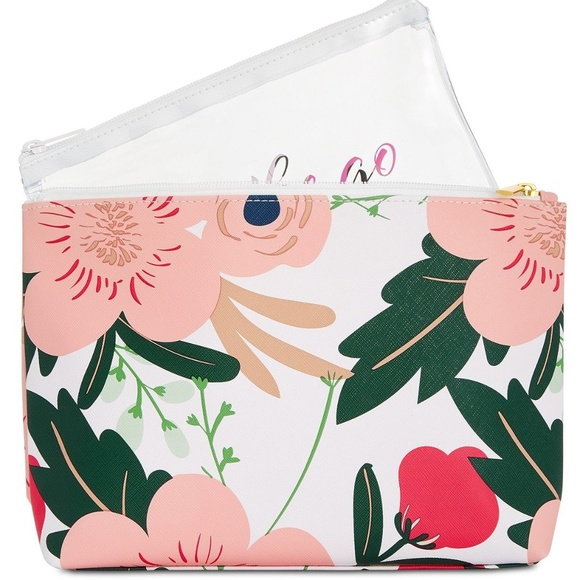 twelvenyc Handbags - twelveNYC Floral Cosmetic Bag
